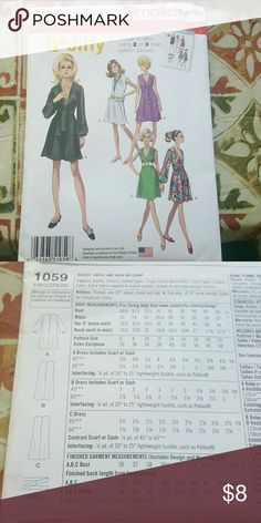 Its groovy baby! Simplicity sewing Pattern 1059 Uncut Sz 6-14 Dresses Mini
