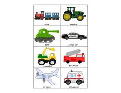 Occupations & Vehicles: Free Matching Activity, not going to lie, only pinning because of the tractor!
