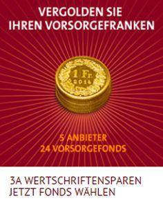 VERGOLDEN SIE IHREN VORSORGEFRANKEN - Das einzigartige Angebot der Banque CIC (Suisse) erlaubt einen flexiblen Mix aus 24 Vorsorgefonds von 5 verschiedenen Anbietern.