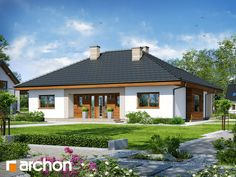 Dom pod jarząbem 15 (T) Story House, My House, Modern Bungalow House, One Story Homes, Village Houses, Home Fashion, Interior And Exterior, Beautiful Homes, House Plans