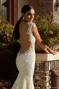 galia lahav 2014 bridal collection madonna wedding dress open back close up