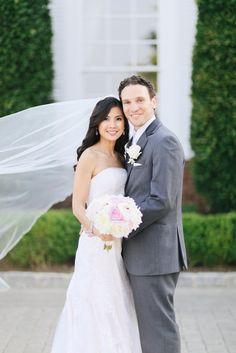 Photography: AhmetZe - www.ahmetze.com  Read More: http://www.stylemepretty.com/tri-state-weddings/2014/02/20/gray-pink-white-trump-national-golf-club-wedding/