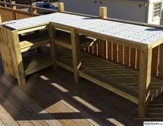 Simple Outdoor Kitchen, Build Outdoor Kitchen, Outdoor Kitchen Design, Outdoor Cooking, Outdoor Screen Room, Outdoor Screens, Backyard Patio, Backyard Landscaping, Bbq Table