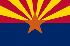 "The flag consists of 13 rays of red and yellow, the colors of the flag of Spain, representing the 13 original states. The red and yellow also symbolize Arizona's sunsets. The star represents the copper mining industry in Arizona. The blue, representing liberty. ""Charles Wilfred Harris, Colonel in the Arizona National Guard, served as the captain of the unit's rifle team in 1910. During the rifle competition at Camp Perry, Ohio, the Arizona team was the only team without an emblem of any…"
