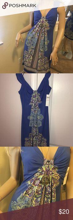 London Times Dress London Times blue paisley dress, NWT, Sz 10 London Times Dresses