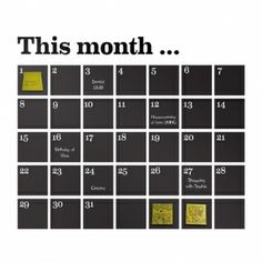 Ferm LIVING Calendar Wall Sticker : Gifts and Accessories from Scandinavia Black Wall Stickers, Calendar Stickers, Calendar Wall, Chalkboard Calendar, Chalkboard Wall Bedroom, Chalkboard Paint, Wall Organization, Quote Prints, Home Decor Accessories