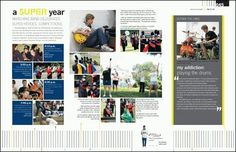 Forget all the text on the page but a really cool layout on the left, for the academics section of the yearbook.