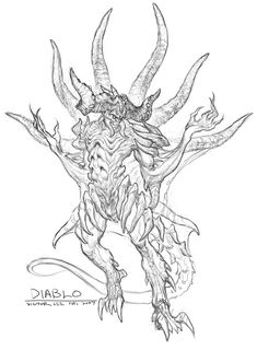Diablo Sketch from Diablo III