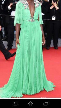 #greenballgown