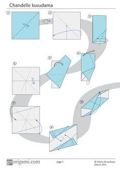 Chandelle Kusudama Diagram