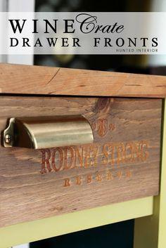 DIY Wine Crate Drawer Fronts | Ikea Hack