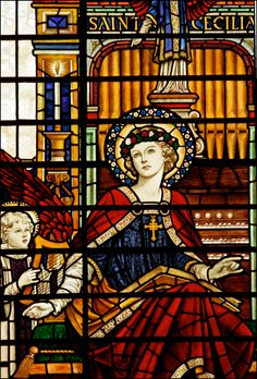 St Cecilia - Stained Glass - Nov 22