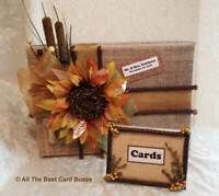 Rustic Wedding Card Box,extra large,secure,beige,custom,fabric,holds 100 cards | eBay Gold Wedding Centerpieces, Country Wedding Decorations, Rustic Weddings, Country Weddings, Rustic Card Box Wedding, Wedding Cards, Graduation Card Boxes, Money Cards, Burlap Flowers
