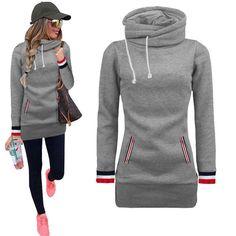 New Autumn Winter Women Hoodies Sweatshirts Fashion Sweatshirt High Quality Ropa Mujer Moleton Moletom Feminino Black Bts Hoodie Hoodie Sweatshirts, Fashion Sweatshirts, Bts Hoodie, Long Hoodie, Fleece Hoodie, Vestidos Sport, Turtleneck Sweatshirt, Sweatshirt Dress, Raglan