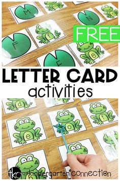 These frog letter activities are so fun for spring literacy centers in Pre-K and Kindergarten! Just grab the FREE frog letter printables!