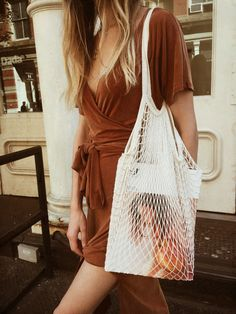 le burnt orange dress