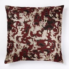 Brocade Abstract Pillow Cover - Burgundy | west elm