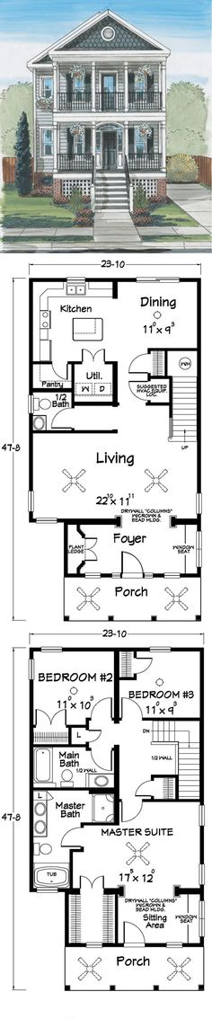 Dream homes on pinterest house plans floor plans and for New orleans home floor plans