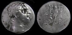 Agathokles I (190-180 B.C.) Silver Tetradrachm, Coins, Greek Hellenistic Macedonian, Civilization History of Macedonia Greece   #Macedonia #Greek #Macedonian #Greece #History #coins #drachma #Agathokles #money #ancient #civilization
