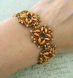 Linda's Crafty Inspirations: Bracelet of the Day: Rani - Apricot