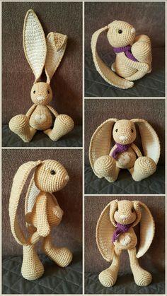Mesmerizing Crochet an Amigurumi Rabbit Ideas. Lovely Crochet an Amigurumi Rabbit Ideas. Crochet Bunny Pattern, Crochet Rabbit, Crochet Animal Patterns, Crochet Patterns Amigurumi, Amigurumi Doll, Crochet Dolls, Crochet Diy, Easter Crochet, Crochet Bear