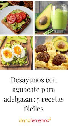 5 desayunos sencillos con aguacate #aguacate #avocado #recetas #recipe #DiarioFemenino