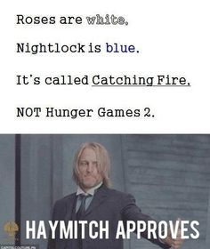 And not The Hunger Games Catching Fire either. It's just Catching Fire, it doesn't matter if it's the Hunger Games trilogy, I don't care. Hunger Games Memes, The Hunger Games, Hunger Games Fandom, Hunger Games Catching Fire, Hunger Games Trilogy, Hunger Games Haymitch, Hunger Game Quotes, Katniss Everdeen, Tribute Von Panem