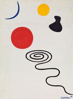 Calder - Five Objects, 1956 Oil on canvas Private Collection, London A01257.1