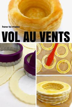 Homemade easy vol au vents at home! Step by step recipe 🙂 Homemade easy vol au vents at home! Step by step recipe 🙂 British Baking Show Recipes, British Bake Off Recipes, Great British Bake Off, Vol Au Vent, Mini Desserts, Delicious Desserts, Tapas, My Recipes, Cooking Recipes