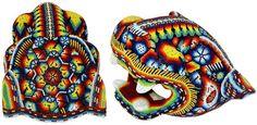 MEXICAN CONDOLESNCES | Huichol beaded jaguar heads - Stylehive
