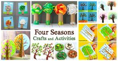 Looking for some adorable four seasons crafts and activities for kids? This collection has you covered! You'll find all kinds of art projects and learning activities for spring, summer, fall, and winter! Follow our Creative Learning Activities Pinterest board!  This post contains affiliate links.  Nothing helps children learn more about all four seasons …