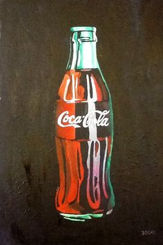 Becky Douglas-Henry's painting of a coca cola bottle