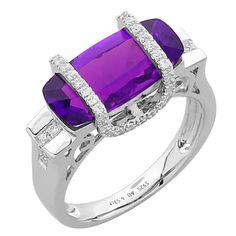 1stdibs | Amethyst Diamond Gold Ring