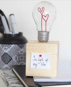 Ampoule : cadeau de Saint-Valentin fait maison