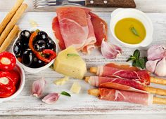 Delicious antipasti plate on your table!