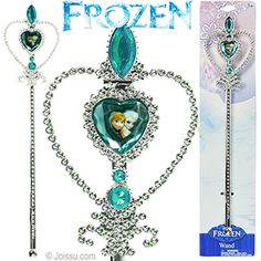 DISNEY'S FROZN WANDS. With faceted faux gems and a mini portrait of Elsa and Anna, these will delight any Disneyholic. Each display carded. Perfect for party favors and Christmas stocking stuffers. Size 12.5 Inches, packaging 15 X 35 Inches