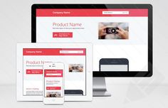 Responsive Product Page Template : Image 1