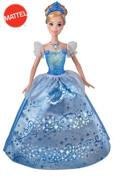 Disney Princess Swirling Lights Cinderella Doll: It is an unforgettable movie moment when fairy dust swirls around Cinderella and transforms her tattered pink