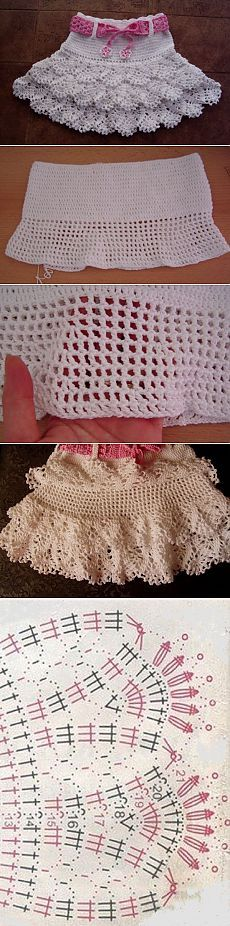 Baby Crochet Patterns Part 33 - Beautiful Crochet Patterns and Knitting Patterns Col Crochet, Crochet Chart, Crochet For Kids, Crochet Stitches, Crochet Summer, Knitting Patterns, Sewing Patterns, Fashion Design For Kids, Crochet Baby Dresses
