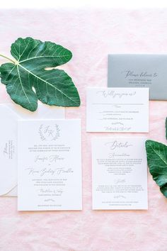 Monogram Wreath Letterpress Wedding Invitations - perfect for a modern or classic wedding!