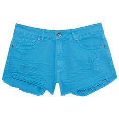 LE LIS BLANC DEUX Short sarja puídos azul