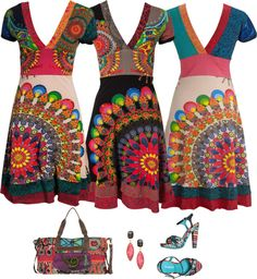 I would even ditch my 'no print and no pattern' rule for theses dresses… Look Hippie Chic, Bohemian Style, Colorful Fashion, Boho Fashion, Womens Fashion, Casual Dresses, Summer Dresses, Fashion Prints, Paisley