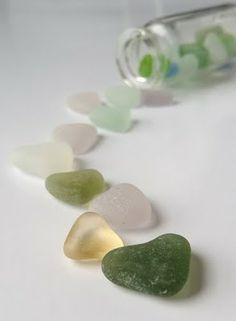 Heart Sea Glass Valentine