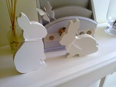 Pareja de conejos para estante