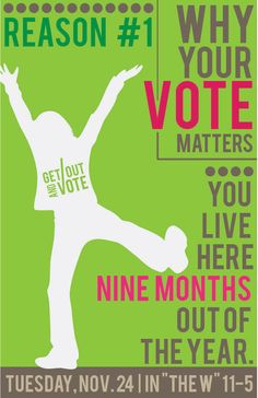 Student Senate Work Rock The Vote, Student Council, Nine Months, Class Of 2020, Student Life, Getting Out, Campaign, Good Things, School
