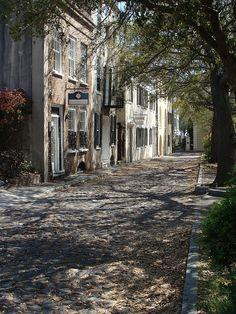 Charleston, S.C. Peaceful quiet old streets. Walking them is just wonderful