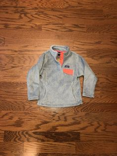 c36bcbdaa Patagonia Girls Re Tool Snap T Fleece Pullover Size XS(5/6) Gray/pink  #fashion #clothing #shoes #accessories #kidsclothingshoesaccs  #girlsclothingsizes4up ...