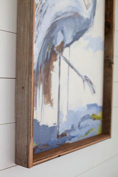 Reclaimed Wood Frame | Ruthie Carlson | Painting | Art | Heron