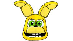 How to Draw Spring Bonnie From FNaF Sister Location