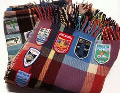 love the idea of going with a non-traditional pattern for a camp blanket. Gives it that vintage feel and look.